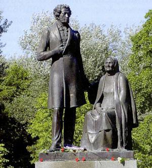 Памятник А.С.Пушкину и Памятник ...: www.old-pskov.ru/pam_push.php